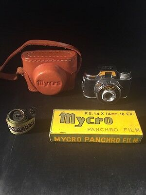 Miniature Camera Mycro Sanwa Co Ltd With Case Very Rare Films Panchro Film