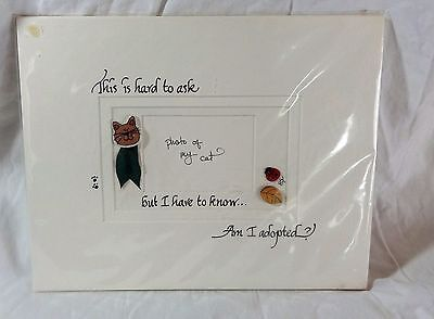 Cat Photo Frame Insert - Am I Adopted?