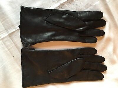 Buttersoft Black Leather Italian Gloves Size Small BNWOT