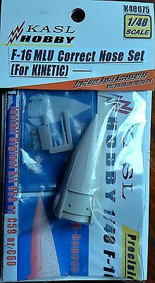 KASL Hobby 1/48 F-16 MLU Correct Nose For KINETIC resin upgrade