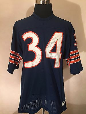 NFL Chicago Bears #34 LGE** Vintage Printed Gridiron Jersey by Sand-Knit