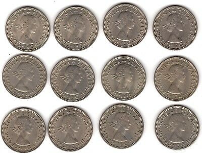 Mix Of English & Scottish Elizabeth II One Shilling Coins***Collectors***(2)