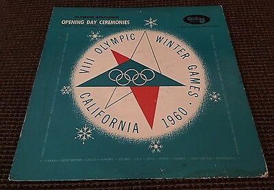 OLYMPIC GAMES LP 1960 Winter Olympiad Lp