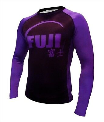 Fuji IBJJF Long Sleeve Rash Guard Purple - X-Large