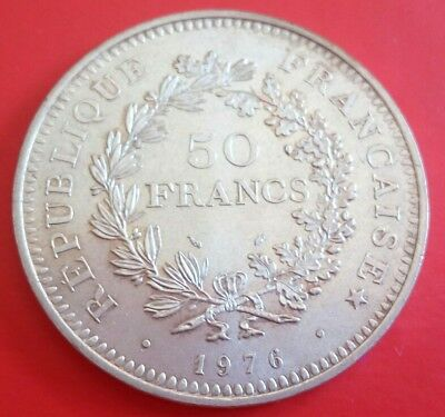 France  50 Francs  1976 Silver Plata 0,900 Nice Condition. Oportunity!!