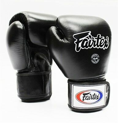 Fairtex Training Gloves - Black - BGV1 - 18 oz