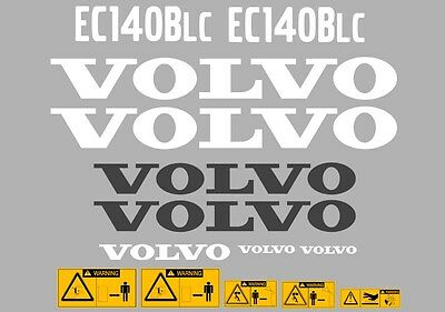 Volvo Ec140Blc Digger Decal Sticker Set With Safety Warning Decals