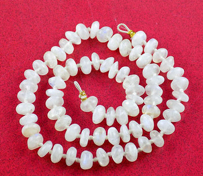 "1 Strands AAA Natural Fire Rainbow Moonstone Rondelle 9mm 18"" Long Smooth Beads"