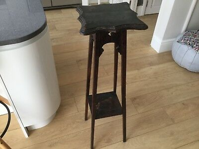 Tall Edwardian 2 tier torchere plant stand - shabby chic project #mynextproject