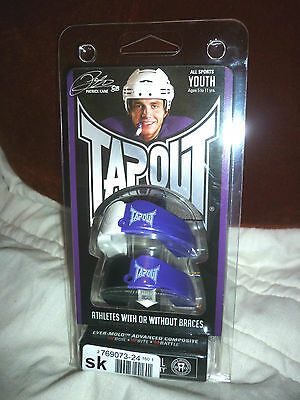 Junior 2Pk TAPOUT MOUTHGUARD Rugby,Ice Hockey,Boxing,Contact Sports RRP £15.99
