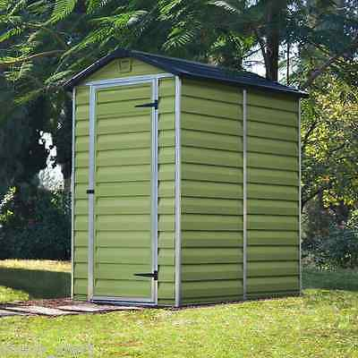 Plastic Garden Shed 4x6 Storage Building Apex Windowless 4ft 6ft