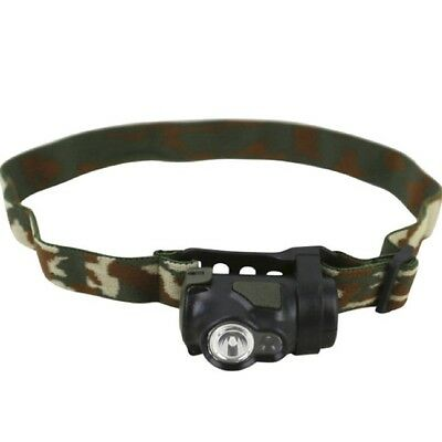 Military Predator Tactical Head Torch Camo 3W Led Red White Cadet Army Lamp