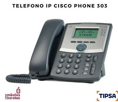 Telefono Ip Cisco Ip Phone 303 Spa303 3 Lineas, Con Pantalla, Protocolo Sip