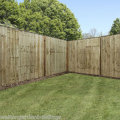 Wooden Pressure Treated Vertical Hit & Miss Garden Fencing Panels 6ft 5ft 4ft 3f