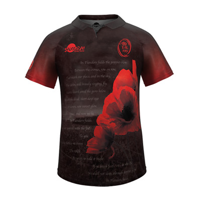 Army Rugby Union 2017 Official Remembrance Shirt by Samurai