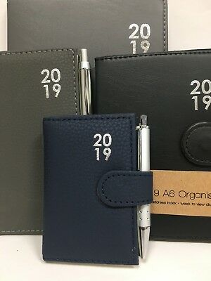 2018 A5/A6/A7/Slim Diary Organiser Week to View/Day to Page Belt Tab Leather Dia