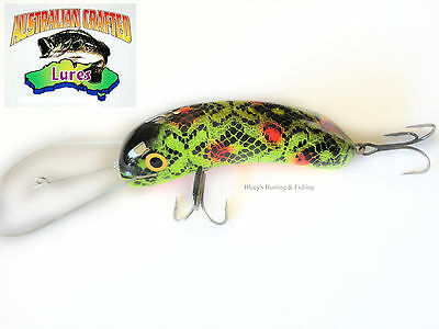 Australian Crafted Lures- cod 120mm Invader Wagga frog col;8 35ft a.c lures