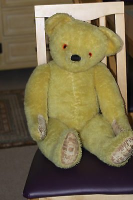 lovely golden bear 1950's 27 inch Chad Valley yellow/golden bear good condition