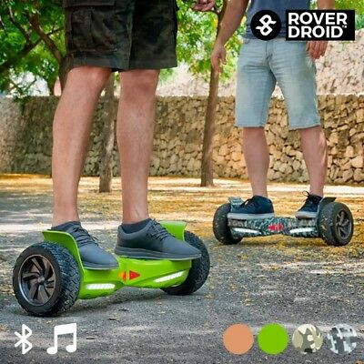 Rover Droid Off-Road Mini Self-Balancing Electric Scooter, Bluetooth Speaker LED