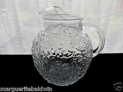 Anchor Hocking Glass Clear Lido Milano 96 ounce Ball Pitcher with Ice Lip