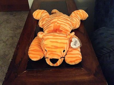 Purr The Orange Stripped Tiger! Beanie Baby Pillow Pal!  New, Never Displayed!