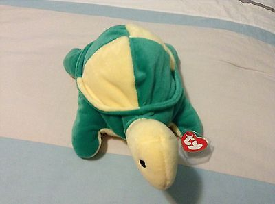 Snap The Green/yellow Turtle Beanie Baby Pillow Pal! Never Displayed!  New!