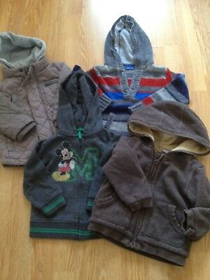 Boys  12-18 Months Hoodies Jumpers, Jacket / coat - Bundle x 4 - inc MickeyMouse