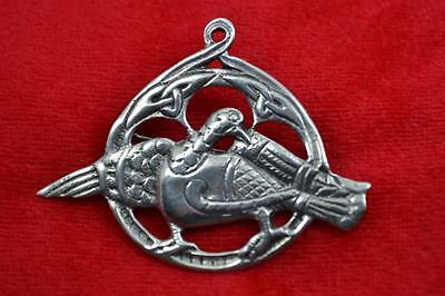 Vintage Iona ? Shipton & Co Sterling zoomorphic silver brooch Chester 1947