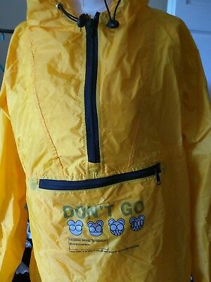 Rare Radiohead Waterproof Yellow Anorak/jacket W.a.s.t.e Don't Stop 99/00/01