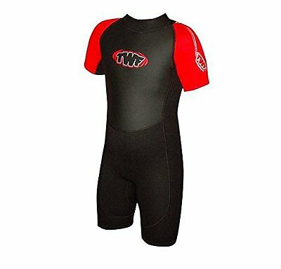 Childs Shortie Wetsuit 2.5mm Black/Red Age 7/8