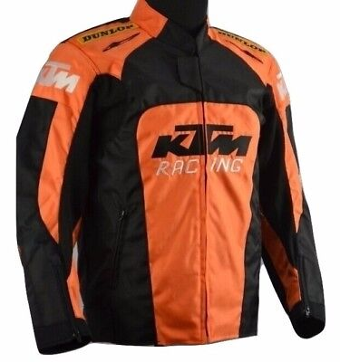 New Orange KTM Off Road Motorcycle Jacket w/ Hump Bike Riding Protective Clothes