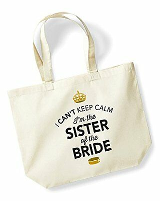 Sister Of The Bride Idea Wedding Hen Party Bridal Bag Handbag Present Keepsake