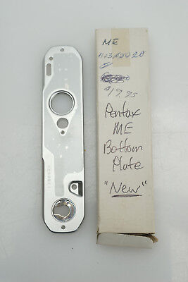 Vintage PENTAX ME Replacement PART - Bottom Plate Cover Japan Camera Chrome NEW