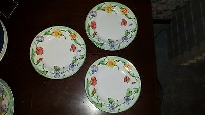 3 Coventry SECRET GARDEN  Salad Plates
