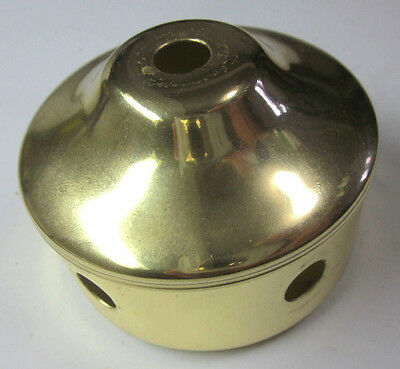 """Vintage bright shiny brass plated lamp break body part with 5 side holes 2-3/4"""""""