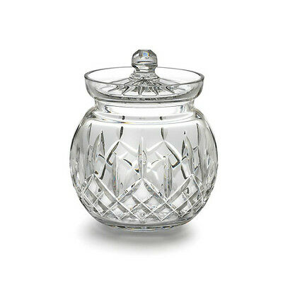 Waterford Crystal Lismore Round Biscuit Barrel New Hand Signed Tom Power