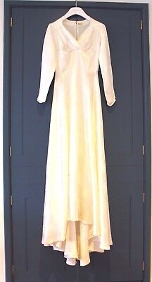 Beautiful original 1950s wedding dress with train, brilliant condition vintage