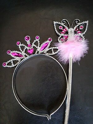Kids - Butterfly Design Wand and Tiara Set