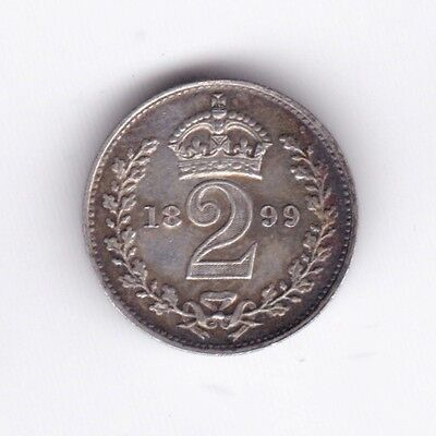 1899 Victoria Maundy Two Pence***Collectors***Silver***UNC***