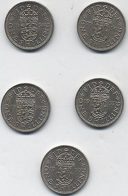 The Key Date Elizabeth II Shillings***Collectors***High Grades***