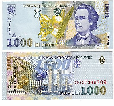 Romania P106 1000 Lei Year 1998 Uncirculated Banknote