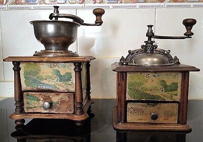 2 Molino de Cafe frances firma Japy Freres & Cie Brevete. Antique coffee grinder