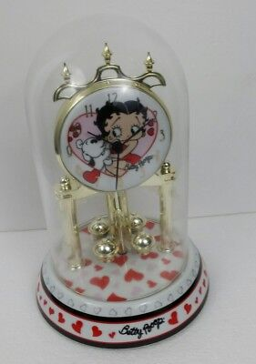 "Beety Boop Porceline Clock 9"" Tall"