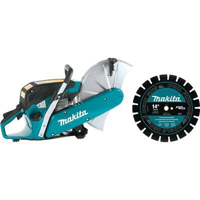 MAKITA EX6101X2 14 in. 61cc Gas Saw with Diamond Blade METAL- MASONRY-CONCRETE