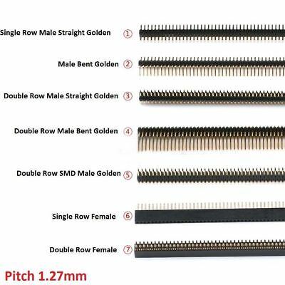 Male Female SMD Pin Header Connector 1x40P/50P 2x40P/50P 1.27mm Golden Breakable