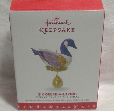 Hallmark 2016 Six Geese A Laying Twelve Days of Christmas  6th in Series