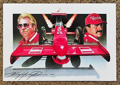 New Kenny Youngblood Signed Champions Flight Ii Winston Tf Drag Racing Print