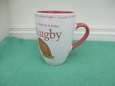 History & Heraldry Stoneware MUG - RUGBY I'd rather be playing - VGC