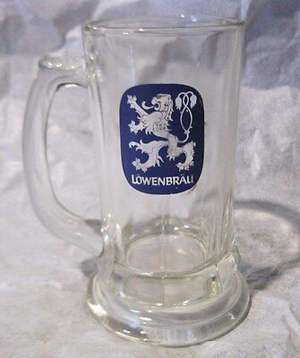 Vintage Lowenbrau Beer Mug - Heavy Glass