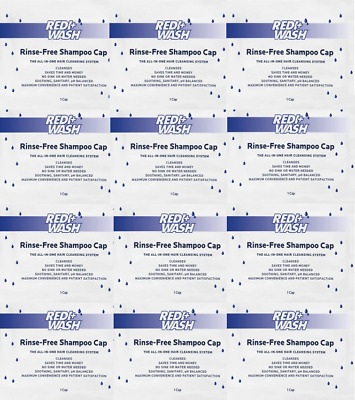 No Rinse Shampoo Cap w/Conditioner - 10 PACK - 1 STEP - FREE PRIORITY SHIPPING